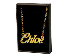 "Name Necklace ""CHLOE"" - 18ct Gold Plated - Jewellery Gifts For Her Christmas"