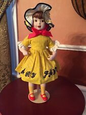 """Vintage Franklin Mint Heirloom Porcelain Girl Mary Jane Candy  Doll 12"""" w/Stand"""