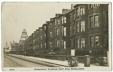 Erdsforth Terrace, East End, Morecambe RP PPC 1914 Local PMK, W Early Motorbike