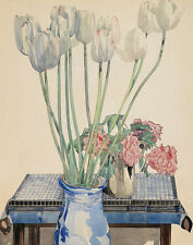 Mackintosh Rennie Charles White Tulips Print 11 x 14  #5973