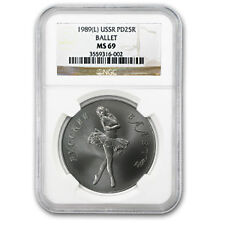 1989 1 oz Palladium Russian Ballerina Coin - MS-69 NGC - SKU #66215
