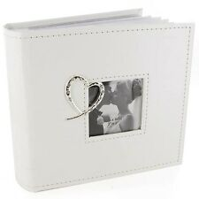 Crystal Heart White Wedding Photo Album WG260