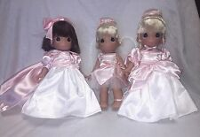 "Snow White, Tinkerbell, and Cinderella- Precious Moments 9"" Vinyl Doll"