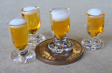 1:12 Single Glass Of Ale Beer Dolls House Miniature Pub Bar Drink Accessory F
