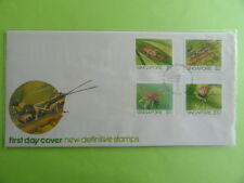 1985 FDC Singapore First Day Cover - New Definitives Stamps High Values Insects