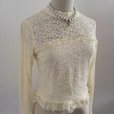 LIZ LISA Top back button lace high neck Kawaii Japanese Gyaru Fashion Hime