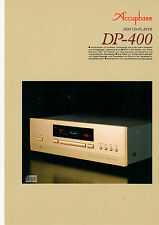 DEPLIANT Prospetto accuphase dp-400 b587