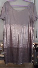 NWT ~ STUNNING FREE PEOPLE ROSEGOLD COMBO SEQUIN BLING DRESS ~  SIZE L ~ $168