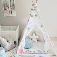 Kids Wigwam 100 Cotton Canvas Teepee Children Play Tent Indoor Party Gift  sc 1 st  eBay & Hanging Play Tent Childrens Kids Bed Canopy in Rose Multi Stripe ...