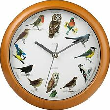 BIRD WALL CLOCK SONG MUSICAL PLAYS EVERY HOUR NEW FREE P+P