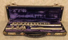 Paul Renni Flute Nickel Plated with Case Paris France Serial 374