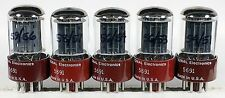 5 NIB RCA 5691 red base tubes test well s-rods tube amplifier 6SL7GT VT-229