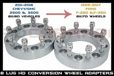 2 PC Conversion Adapter GMC 2500 To Ford F-250 wheels |8x180 to 8x170| 3""