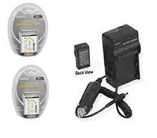TWO 2X Batteries + Charger for Sony DSC-TX9R DSC-TX9H DSC-TX10 DSC-W690 DSC-WX70