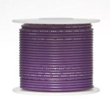 """18 AWG Gauge Solid Hook Up Wire Violet 100 ft 0.0403"""" UL1007 300 Volts"""