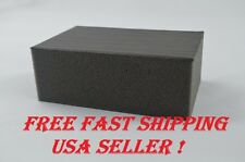 FINE GRADE CLAY BAR AUTO SPONGE BLACK DETAILING BLOCK CAR WASH WAX MOTORCYCLE