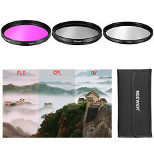 3 Pcs 52mm CPL FLD UV Filter Kit for Nikon D3100 18-55mm Lens