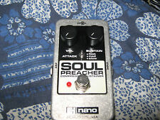 soul preacher compressor/sustainer guitar effect pedal and its 9v power supply