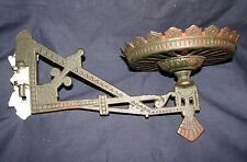 Antique Cast Iron Masonic Square and Compass Wall Sconce w/Bracket