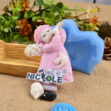 Nicole DIY Angel Resin Clay Crafts Molds Silicone Fondant Cake Decorating Tools