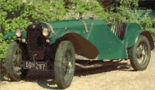 Austin 7 Special, Old Classic Green Car - Cross Stitch Kit 12x7, 16 Count Anchor