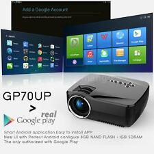 GP70UP LED Projector Home Theater Android WiFi Bluetooth 1080P Multimedia Player