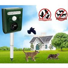 Ultrasonic Solar Power Pest Animal Repeller Repellent Garden Bat Cat Dog Newest