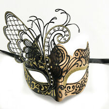 Black/Gold Small Dream Butterfly Mardi Gras Halloween Ball Prom Masquerade Mask