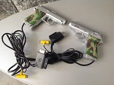 Ps  2X Bundle Sega Saturn Gun Controller X-Time Guncon Gun Con Playstation Ss