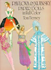 Pavlova and Nijinsky Paper Dolls in Full Color by Tom Tierney (1981, Paperback)