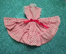 BARBIE DOLL RETRO RED & WHITE POLKA DOT DRESS FULL SKIRT LACE TRIM