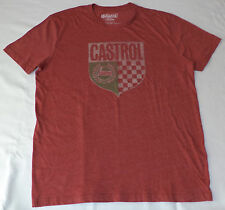 NWT Lucky Brand - Castrol Short Sleeve Red Graphic T-Shirt    Large     L60
