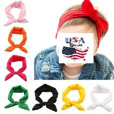 Lot of 12 PCS Top Knot Turban Headbands Headwraps Baby Toddler Girls Kids