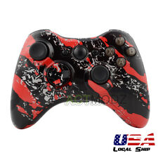 Hydro Dipped Red Splatter Replacement Full Housing Shell For XBOX 360 Controller