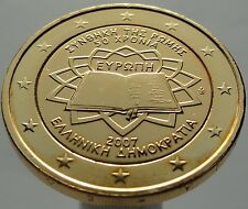 2 EURO 2007 Greece Griechenland Plated 24K Gold Gilded Vergoldet