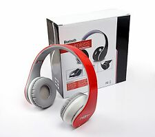 New RED Bluetooth Headphones Headset with NFC fit for all smart cell phones PC
