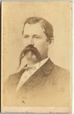 MAN WITH EXTRA LONG MUSTACHE AND GOATEE BY BLESSING + KUHN, BALTIMORE, MD, CDV