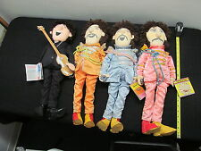 4 MIXED BEATLES CLOTH APPLAUSE DOLLS, SGT PEPPERS -  LOT #125/170/171/172