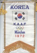 Orig.Übergabewimpel  Olympische Spiele MÜNCHEN 1972 - TEAM SÜDKOREA  !!  RARITÄT