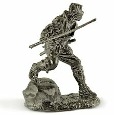 Ninja - assassin. Collection toy soldier. 54mm miniature figure. metal sculpture