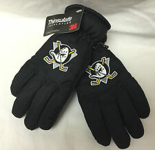 NWT ANAHEIM MIGHTY DUCKS YOUTH VTG NYLON THINSULATE 3M Scotchguard SKI GLOVES