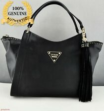 New Guess Black Thompson Satchel Shoulder Handbag Women