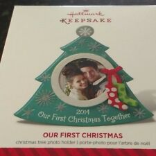 2014 Hallmark Our First Christmas Photo Holder Ornament