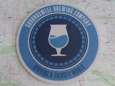 Beer Coaster ~*~ GROUNDSWELL Brewing Co ~ San Diego, CALIFORNIA    Thirsty World