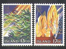 Iceland 1987 Christmas/Greetings/Tree/Lights/Animation 2v set (n37575)