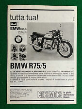 PX27 Pubblicità Advertising Clipping 23x16 cm - MOTO BMW R75/5 750 cc REVELL