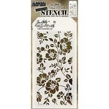 Tim Holtz Layering Stencil ~ FLORAL ~ THS077 ~ Stampers Anonymous