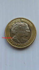 RARE-2007*UNC*GIBRALTAR DIAMOND WEDDING ANNIVERSARY £2 TWO POUND COIN