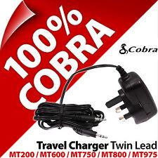 COBRA Alimentazione / Caricabatterie VIAGGIO DOPPIO PIOMBO Spina UK Per Microtalk MT975 MT800 600 200