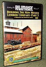 "20031 MODEL RAILROAD VIDEO DVD ""BUILDING THE RGS #7"" NEW MEXICO LUMBER"